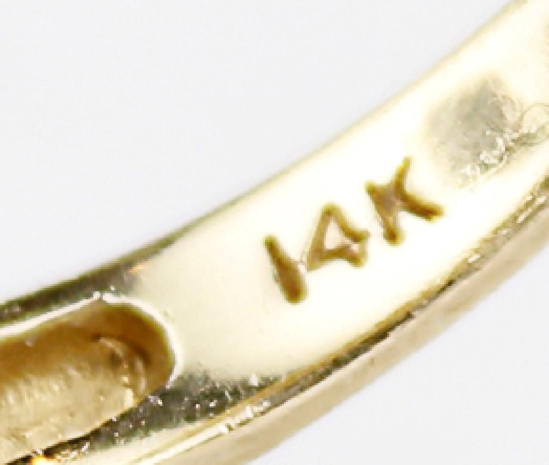14K YELLOW GOLD DIAMOND LADIES FASHION RING - 2