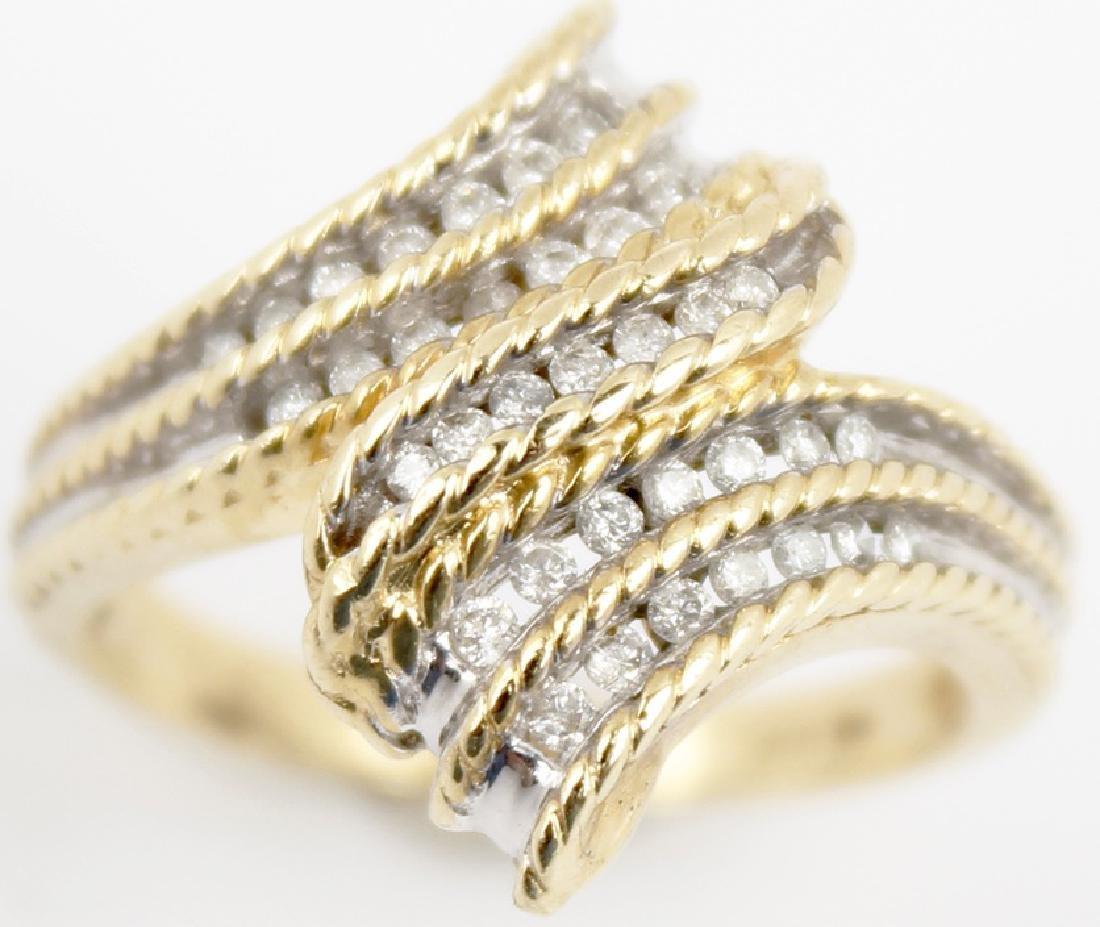 14K YELLOW GOLD CUSTOM DESIGNER DIAMOND RING