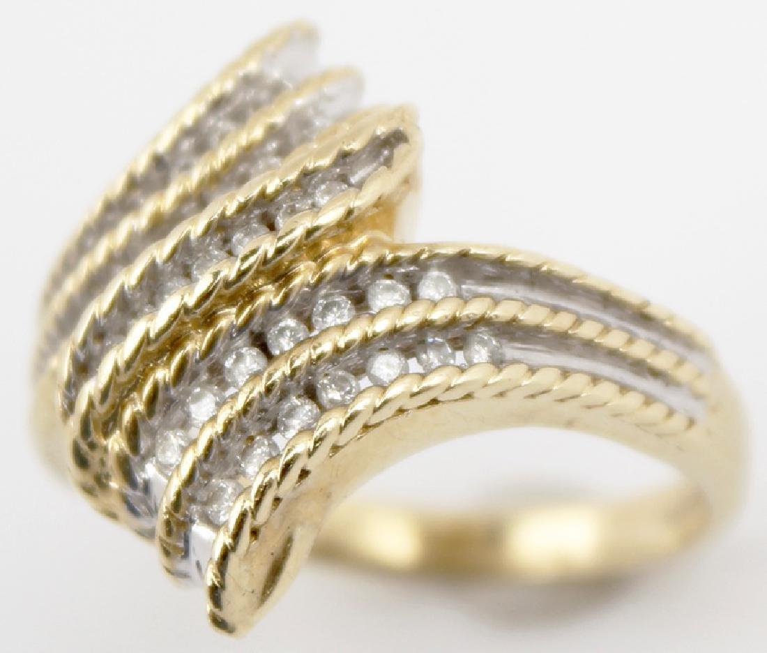 14K YELLOW GOLD CUSTOM DESIGNER DIAMOND RING - 2