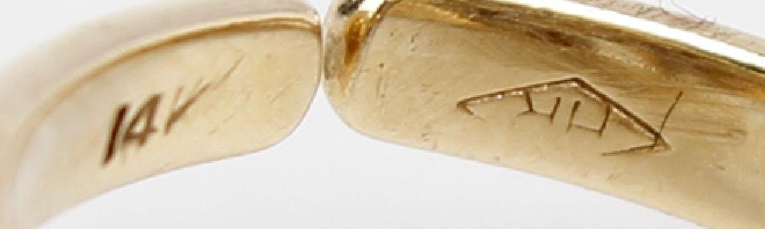 14K YELLOW GOLD LADIES DIAMOND RING - 4