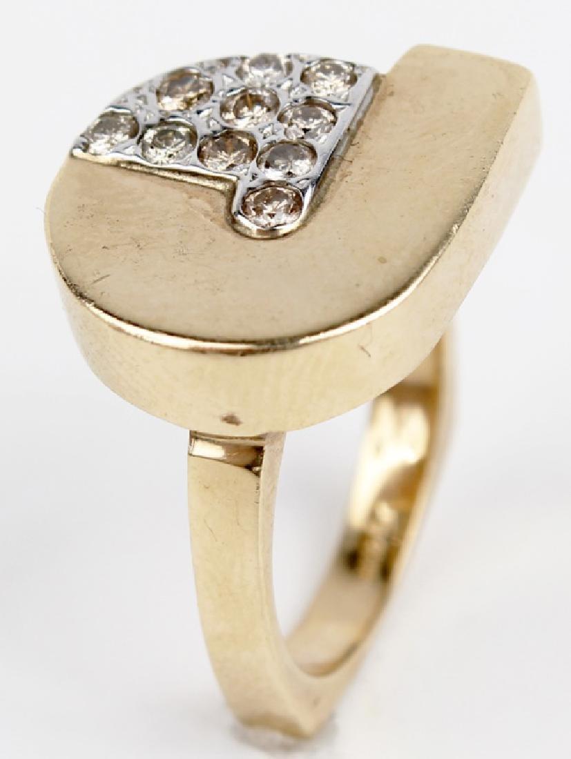 14K YELLOW GOLD CUSTOM DIAMOND RING