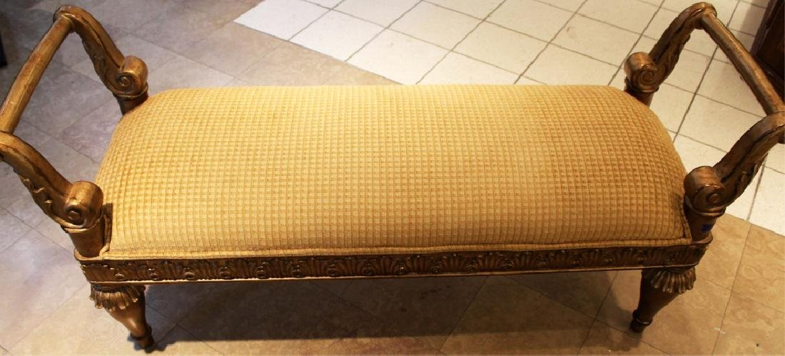 GOLD AND BEIGE LARGE SETTEE