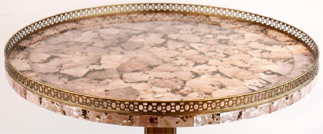MAITLAND SMITH PINK MOTHER OF PEARL CIRCULAR TABLE - 2