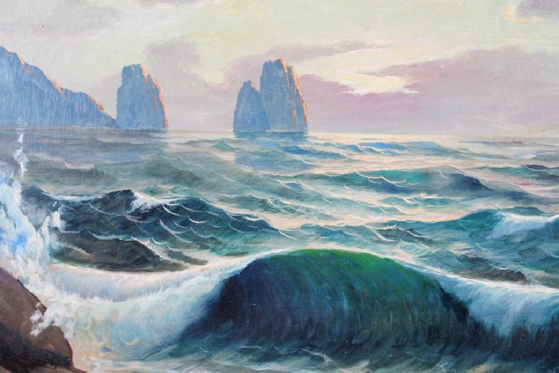 ADOLPH RUBINO SEASCAPE OIL ON CANVAS SIGNED - 2