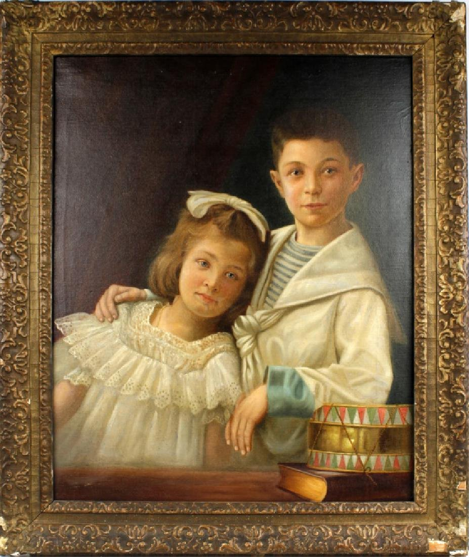 CARL FROSCHL GERMAN CHILD PORTRAIT OIL ON CANVAS