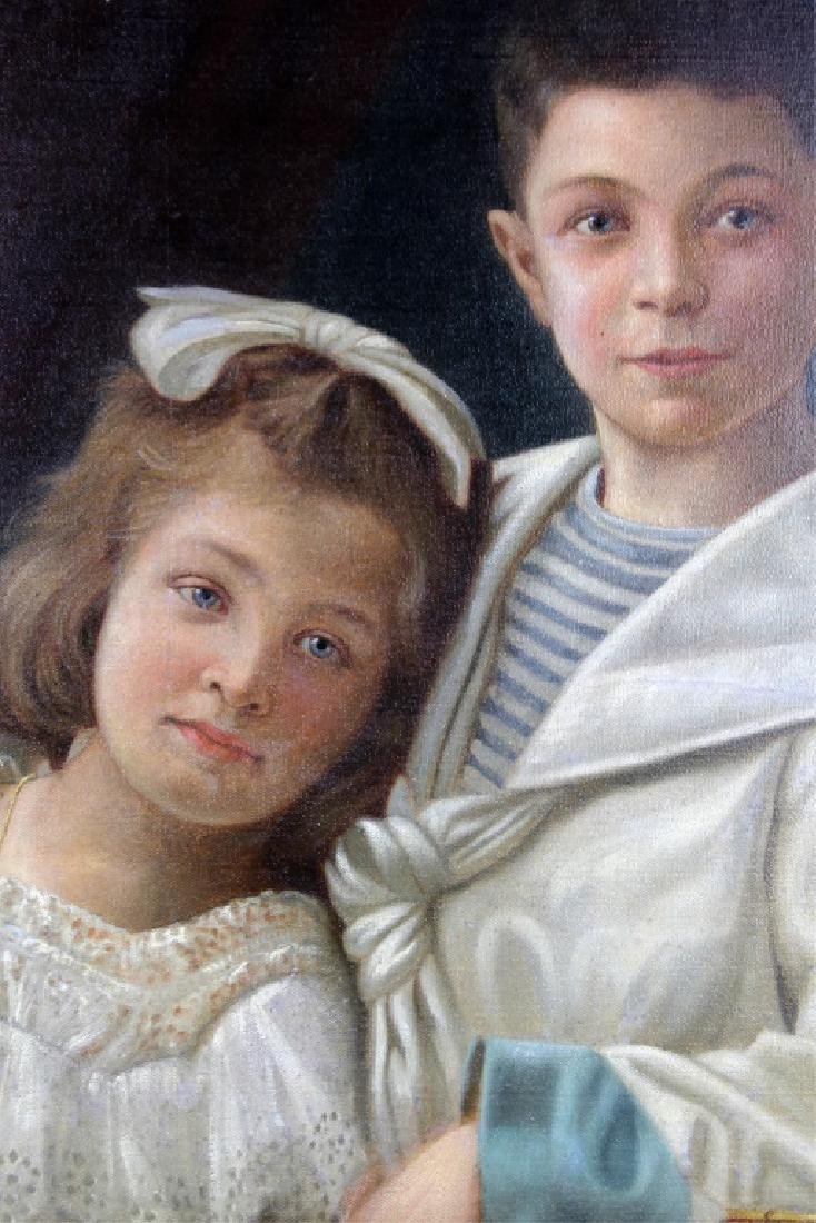 CARL FROSCHL GERMAN CHILD PORTRAIT OIL ON CANVAS - 2