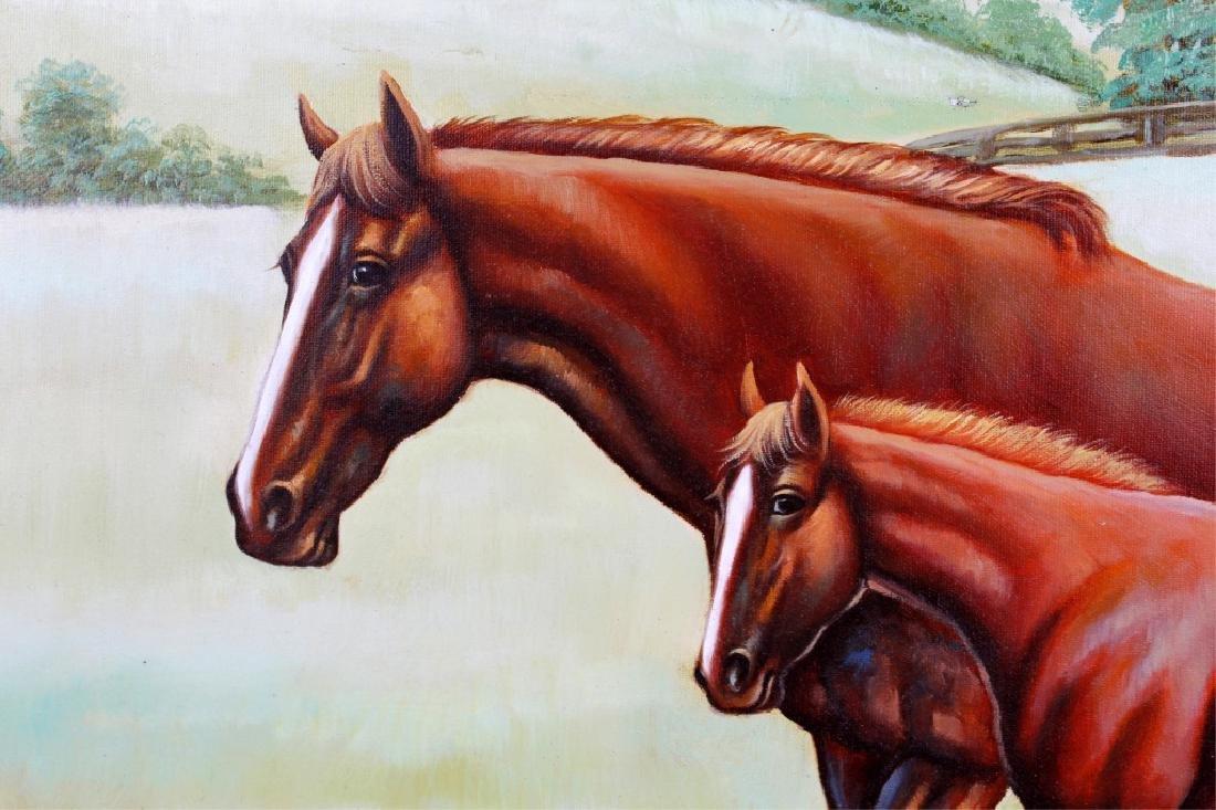 JOHN STANFORD OIL ON CANVAS HORSE LANDSCAPE - 2