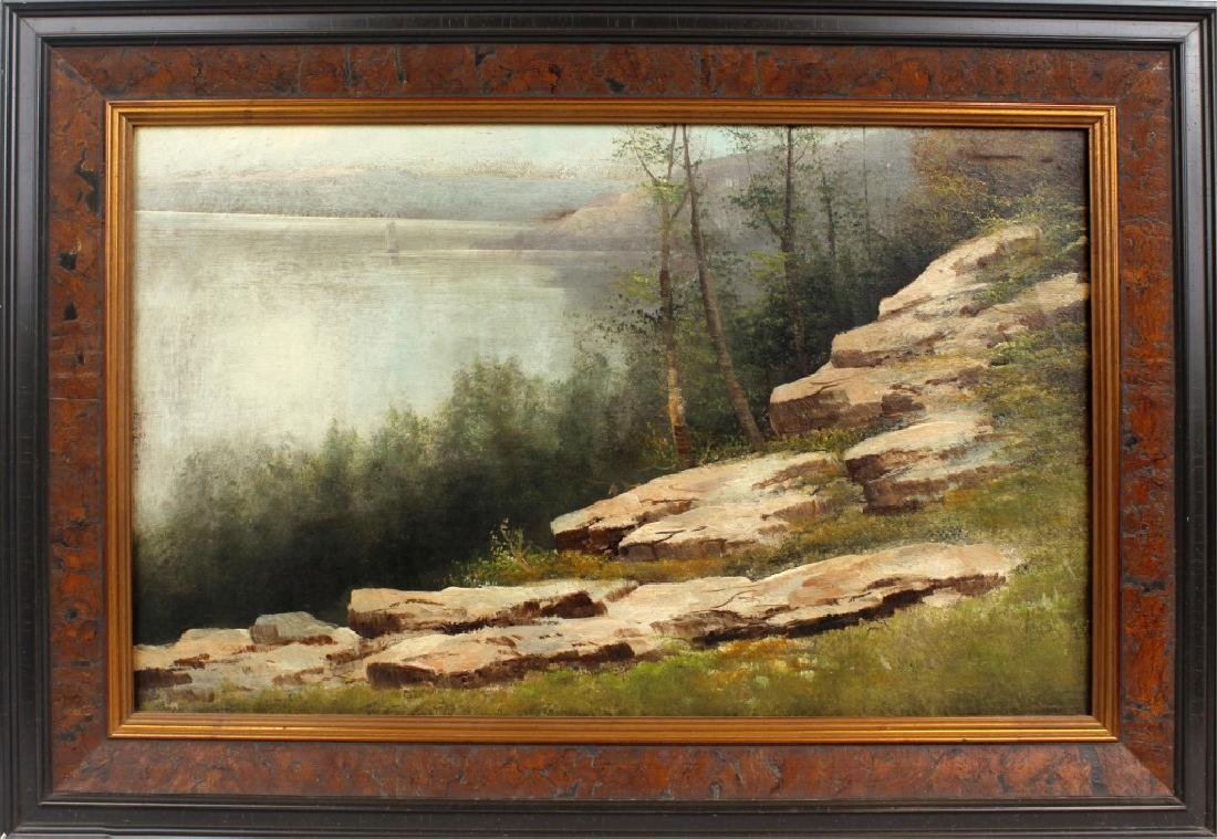 19TH CENTURY HUDSON RIVER VALLEY OIL ON CANVAS