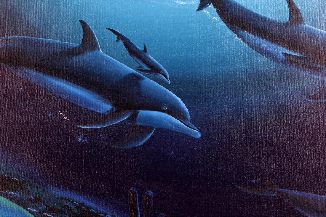 "ROBERT WYLAND ""PLAYFUL SEAS"" ORIGINAL OIL PAINTING - 2"