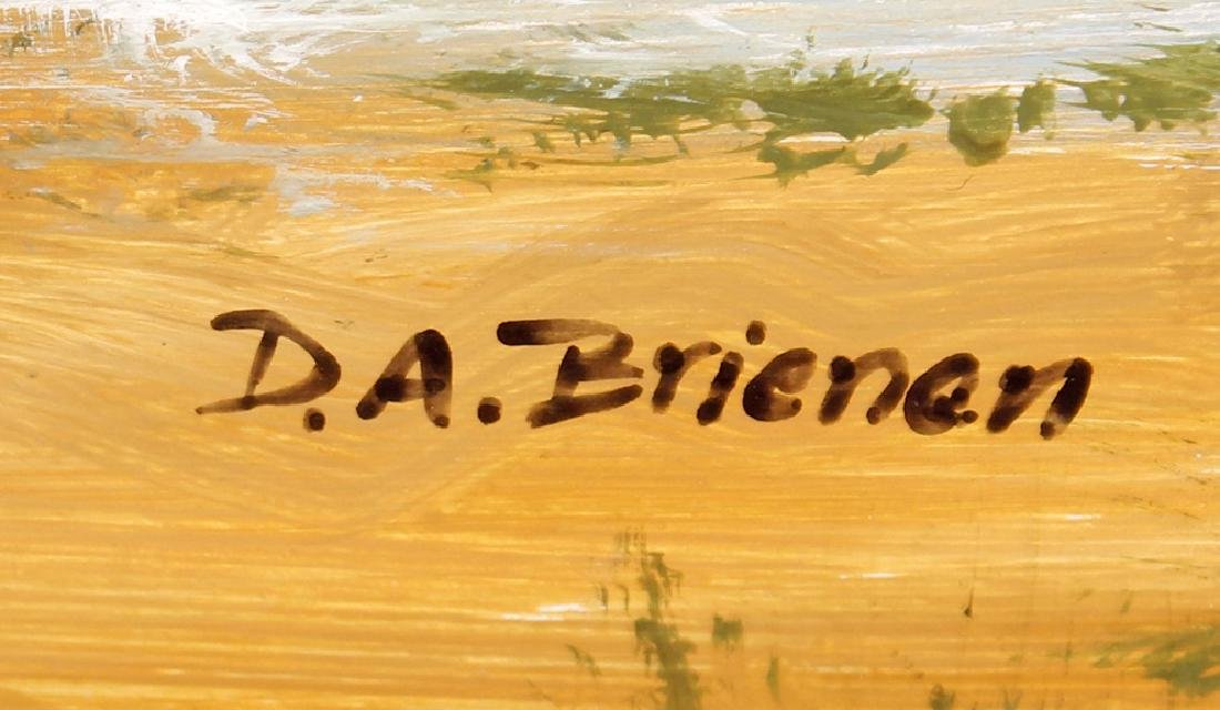 D.A. BRIENEN FLORIDA SAILBOAT ACRYLIC ON BOARD - 3