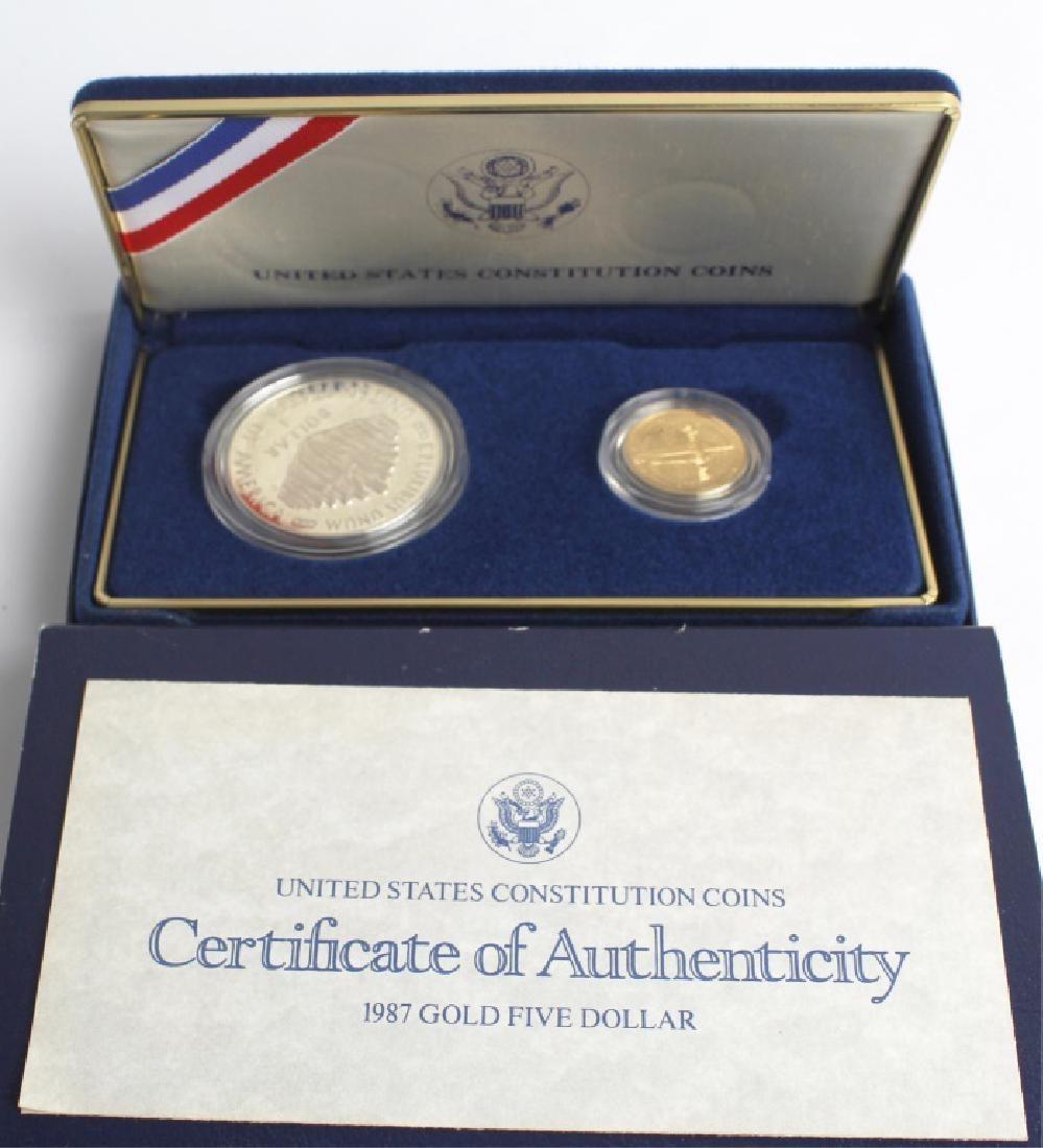 UNITED STATES CONSTITUTION COIN SET - $5 GOLD COIN