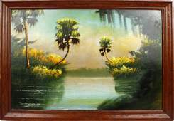 ALFRED HAIR FLORIDA HIGHWAYMEN SUNSET PALM OIL