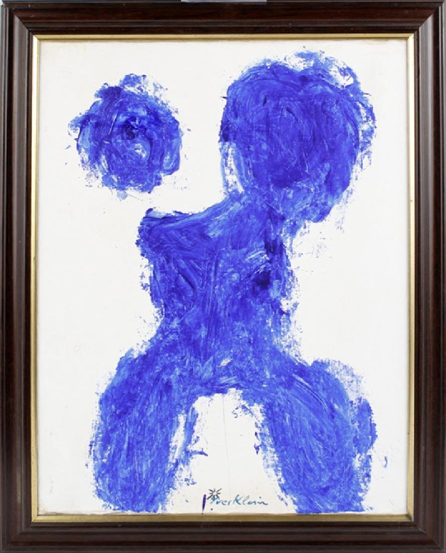 YVES KLEIN (1928-1962) FRENCH OIL ON BOARD