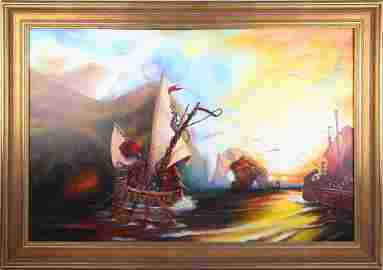 LUCAS STRICKER OIL AFTER JMW TURNER'S THE ODYSSEY
