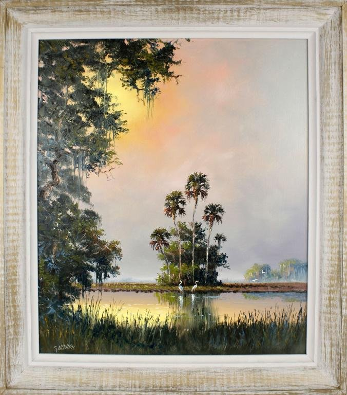SAM NEWTON FLORIDA HIGHWAYMEN WETLAND SCENE