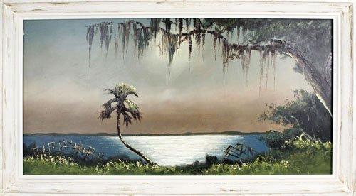 SAM NEWTON FLORIDA HIGHWYAMEN OIL ON BOARD