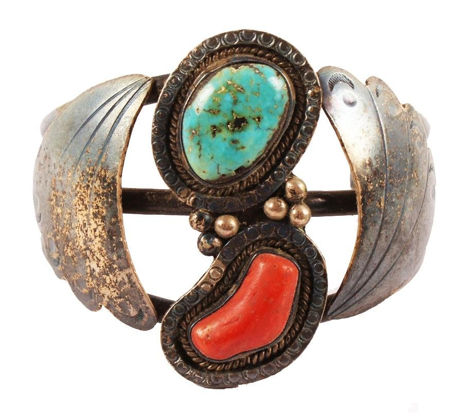 MAE. G. STERLING SILVER TURQUOISE CUFF BRACELET