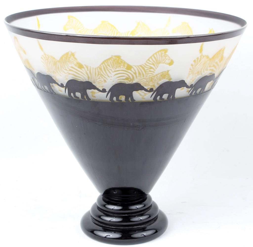 CORREIA AMBER BLACK AFRICA LIMITED EDITION GLASS