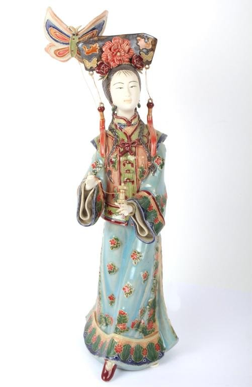 CHINESE SHI WAN SIGNED HIGH-QUALITY PORCELAIN DOLL