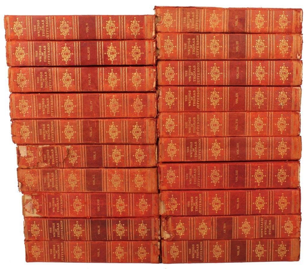 WRITINGS OF THOMAS JEFFERSON 1904- 20 VOLUME SET