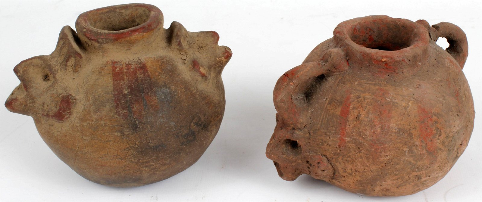 PRE-COLUMBIAN POTTERY VESSEL EFFIGY CARVINGS - 2