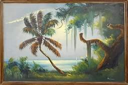 MARY ANN CARROLL FLORIDA HIGHWAYMEN OIL ON BOARD