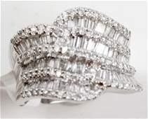 1.52CTTW 14K WHITE GOLD FASHION RING