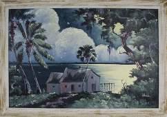 WILLIE DANIELS FLORIDA HIGHWAYMEN OIL ON BOARD
