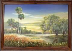 ROBERT BUTLER FLORIDA HIGHWAYMEN OIL ON CANVAS
