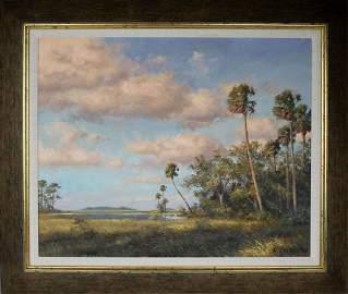 A.E. BACKUS FLORIDA ARTIST WETLAND SCENE