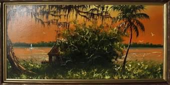 S.M. WELLS FLORIDA HIGHWAYMEN ORANGE RIVER SCENE