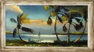 SAM NEWTON FLORIDA HIGHWAYMEN SUNSET RIVER SCENE
