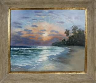 CHARLES WALKER FLORIDA HIGHWAYMEN SUNRISE SEASCAPE