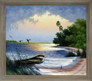 LIVINGSTON ROBERTS FLORIDA HIGHWAYMEN DUCK SCENE