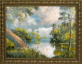SAM NEWTON FLORIDA HIGHWAYMEN MISTY RIVER MORNING