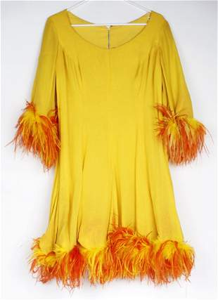 MS. RITA HAYWORTH DRESS NAKED ZOO OSTRICH FEATHERS