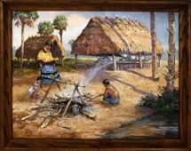 JAMES HUTCHINSON FLORIDA ARTIST NATIVE VILLAGE
