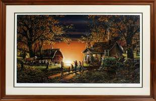 """TERRY REDLIN SIGNED """"MORNING SUPRISE"""" LITHOGRAPH"""