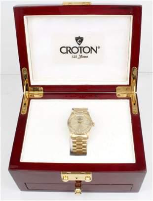 CROTON UNISEX  AUTOMATIC 14K YELLOW GOLD WATCH