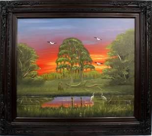 AL BLACK FLORIDA HIGHWAYMEN NEON SUNSET