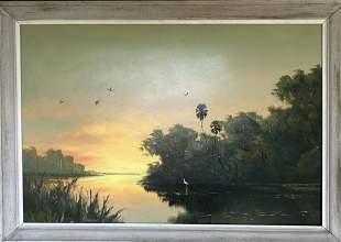 HAROLD NEWTON FLORIDA HIGHWAYMEN ORANGE SUNSET