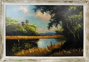 HAROLD NEWTON FLORIDA HIGHWAYMEN WETLAND SCENE