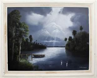 ROY MCLENDON JR FLORIDA ARTIST RIPPLING WATER