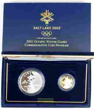 GOLD AND SILVER COMMEMORATIVE SALT LAKE COIN SET