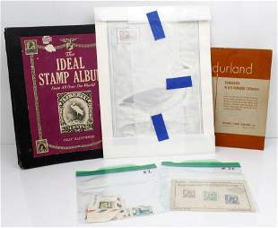LOT OF STAMP BOOKS AND LOOSE STAMPS