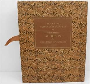 2 VOLUME JOHN JAMES AUDUBON WATERCOLOR BOOKS