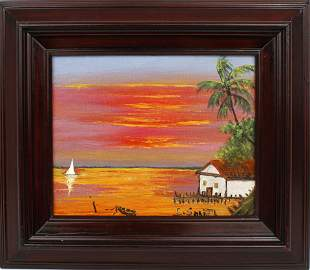 CARNELL SMITH HIGHWAYMEN SHACK AND SAILBOAT