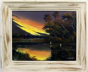 WILLIE DANIELS FLORIDA HIGHWAYMEN FIRESKY SUNSET