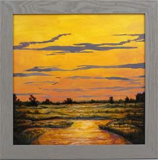CAROLANN KNAPP FLORIDA ARTIST MARSH SUNSET