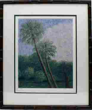 DENNIS WALKER FLORIDA ARTIST PALM PRINT